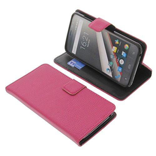 foto-kontor Tasche für Phicomm Clue L Book Style pink Schutz Hülle Buch