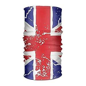 Men&Women British Flag Crack Sports&Casual 12-in-1 Bandanna Headwear Scarf Wrap Neck Gaiters Headband Helmet Liner Balaclava Running,Yoga,Hiking