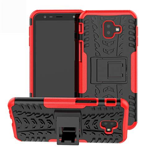 betterfon | Outdoor Handy Tasche Hybrid Case Schutz Hülle Panzer TPU Silikon Hard Cover Bumper für Samsung Galaxy J6+ / J4+ Rot Hybrid Case Rot