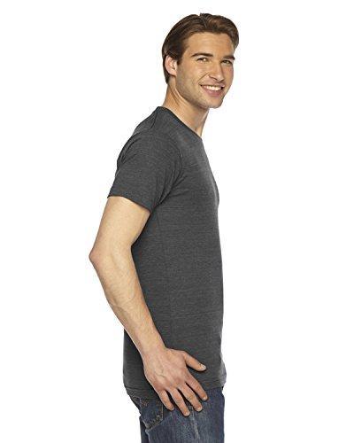 American Apparel Unisex Tri-blend T-Shirt mit Rundhalsausschnitt, Kurzarm TRI BLACK