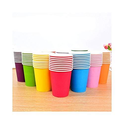 Neue Einfarbige Pappbecher Einweggeschirr Tasse Kinder Puzzle Handgemachten Materialien Spielzeug Geburtstagsfeier Dekoration (Color : Mix colors)