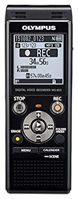 Olympus WS-853 Dictaphone Connexion PC, Type de Stockage: Mémoire Interne, Activation Vocale, Enregistreur MP3 par Olympus