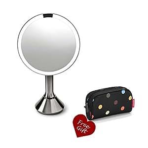 simplehuman maquillage grossissant lumineux avec capteur LED et miroir de maquillage/rasage, garantie 5 ans sans France-Boîte de rangement pour maquillage