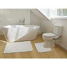 Schön 2 Teiliges Badematten Set Rechteckiges Badezimmer Teppich Und Toiletten  Matte Sett