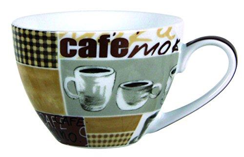 Novastyl 7039014 Lot de 6 Tasses à Café Mokaccino Porcelaine Beige 20 cl