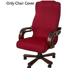 caveen silla, Simplism estilo extraíble estirable Co vers Universal sillón cubierta funda protectora para oficina, Rojo, Large