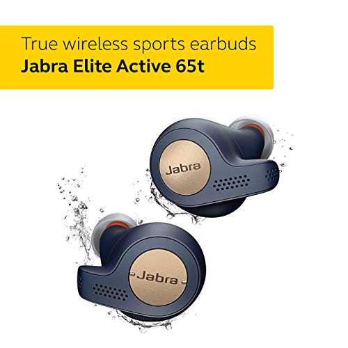 Jabra Elite Active 65t Alexa Enabled True Wireless Sports Earbuds with Charging Case - Copper Blue Image 2