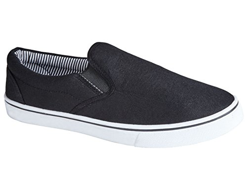 a441f5a40dc4 Mens Boston Canvas Slip On Casual Plimsoll Espadrille Pumps Loafers Deck  Trainers Shoes Size 7-12 (UK 12