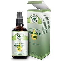 shealite Vitamina E Aceite 100% Natural Puro para cara, piel, Cabello, ,cicatrices y estrías - Ideal Para Piel.