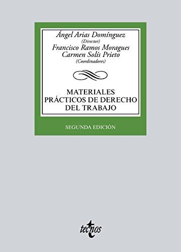 Portada del libro Materiales prácticos de derecho del trabajo (Derecho - Biblioteca Universitaria De Editorial Tecnos)