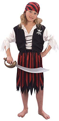 Kostüme Mädchen Pirate Kinder (Piraten-Mädchen - Kinder Kostüm - Klein - 110 bis 122)