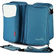 Fumee 3en 1cambiador bolsas viaje bolsas de pañales para cuna portátil para cuna manta cambiador, bolsa, bolsa de pañales cambiador bebé capazo convertible en cama