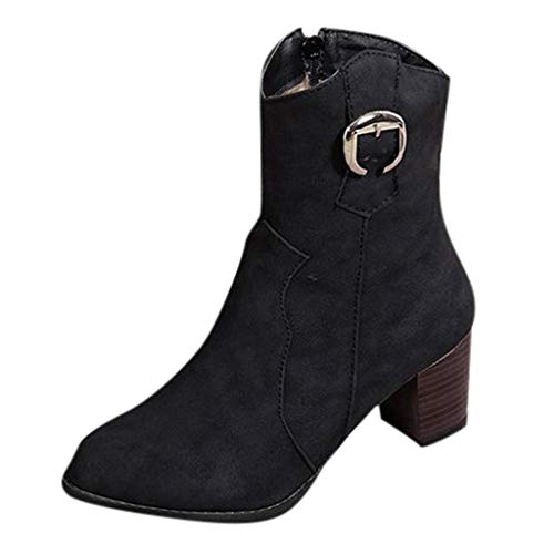 YWLINK Damen Schuhe, Elegant Stiefeletten Bequem ReißVerschluss