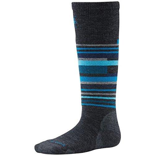 Smartwool Wintersport-Socken, gestreift-Anthrazit, Unisex, Wintersport Stripe, anthrazit, S - Smartwool Lange Unterhosen