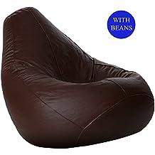 Aart Store XXXL Bean Bag with Beans (Brown)