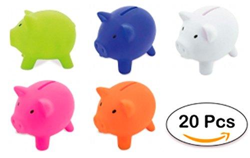 DISOK Lote DE 20 Huchas Infantiles Piggy - Huchas Cerditos, Cerdos. Huchas para Niños Baratas y Originales. Comprar Huchas para Regalos de Cumpleaños, colegios, Infantiles Cerditos