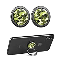 CHOELF Phone Ring Holder, 2 Pack Phone Finger Grip 360° Rotation Finger Ring Stand Universal Metal Kickstand for Mobile Phones iPhone Samsung Galaxy HUAWEI Tablet and more Smartphones- Camouflage