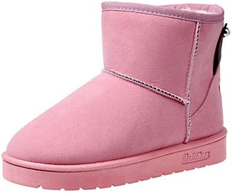 RTRY Zapatos de mujer polipiel moda otoño invierno la nieve botas botas botas enredaderas Round Toe botines/Botines... -