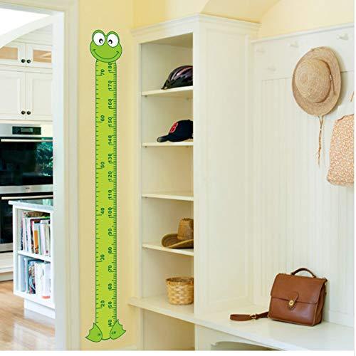 WFYY Interessante Cartoon Grüne Frosch Baby Kinder Höhe Maßnahme Wandaufkleber Raumdekoration Für Kinder Spielzimmer Kinderzimmer PVC