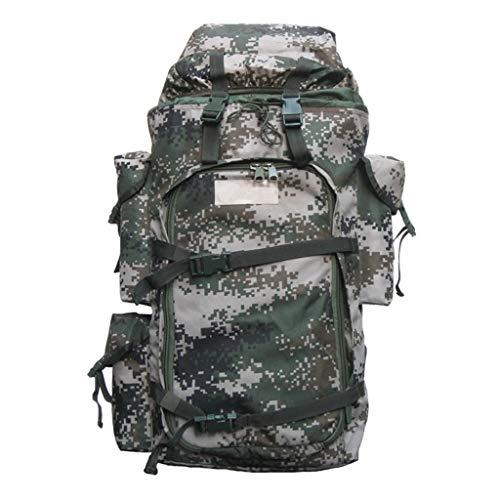 Camouflage outdoor zaino in nylon impermeabile uomini e donne campeggio escursionismo di emergenza di salvataggio zaino di grande capacità staffa metallica zaino