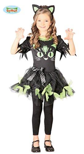 KINDERKOSTÜM - BLACK KITTY - Größe 110-115 cm ( 7-9 Jahre ), Märchen Kätzchen Katzen (Baby Kitty Katze Halloween Kostüm)