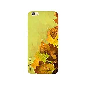 iSweven Autum design printed matte finish multi-colored back case cover for Oppo R9s