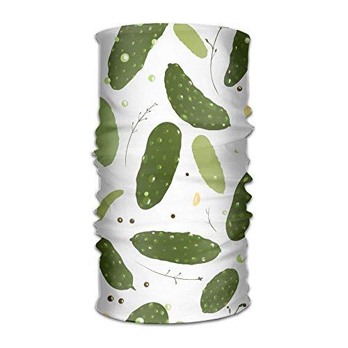 FAFANIQ Spicy Cucumber Unisex Colored Headband Bandanas Headwear Balaclava Neck Gaiter Magic Scarf UV Protection for Daily Activities