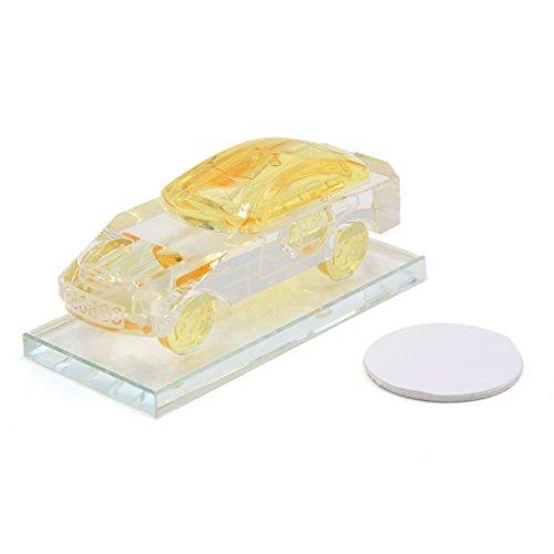 Sourcing map giallo cristallo artificiale forma auto profumatore bottiglia profumo base