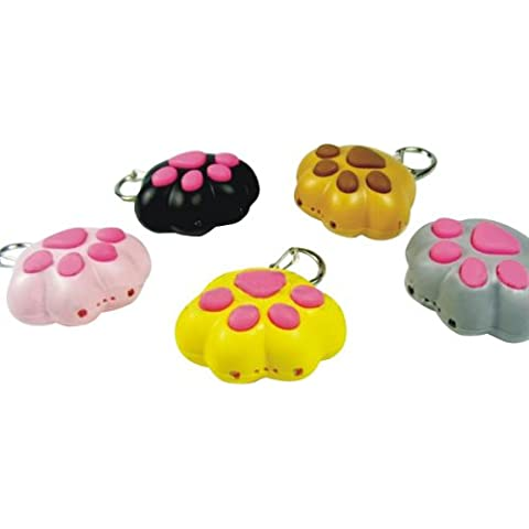 Luminoso Sound Cute Cat Claw 2 Led llavero color opcional.