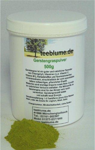 Orge en poudre, culture allemande de qualité, 500g