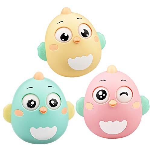 YeahiBaby Stehaufmännchen Rassel Vogel Figur Baby Spielzeug Baby Spielsachen Kinderwagen Spielzeug (Zufällige Farbe) -