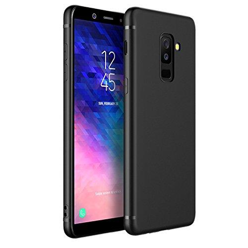 EasyAcc Hülle Case für Samsung Galaxy A6 Plus 2018, Weich TPU Matte Oberfläche Handyhülle Schutzhülle Schmaler Cover Kompatibel mit Samsung Galaxy A6 Plus 2018 - Schwarz