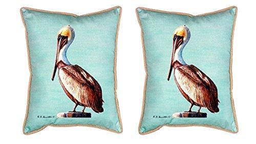 Betsy Drake Polyester Patio-Möbel Kissen sn035C-pair Paar Betsy Drake Pelican–Blaugrün klein Outdoor Kissen 11x 1435,6x 27,9cm farbenreiche (Patio-dekor-kissen)