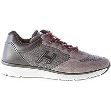 Hogan Uomo Sneaker T 2015 in camoscio e Feltro Grigio più Pelle Nera a07ea33272a