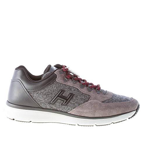 Hogan Uomo Sneaker T 2015 in camoscio e Feltro Grigio più Pelle Nera Color Grigio Size 40 EU (UK 6.5)