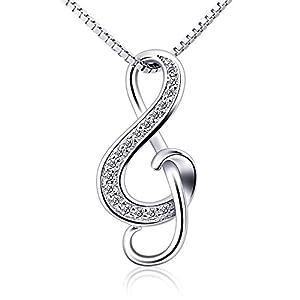 B.Catcher collana d'argento nota musicale collana con pendente S925 da donna gioielli 2 spesavip
