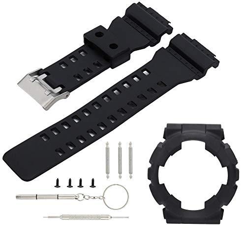 Rosvola Uhrenarmband-Bügel, weicher Silikon-justierbarer Uhrenarmband-Ersatz gepasst für Casio G-Schock GA110 / 100 Nano 4 Snap