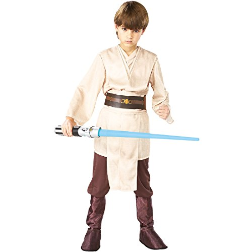 Costume da jedi per bambini - M, 5 - 7 anni, 111 - 128 cm | Star Wars Costume da bambino | Camuffamento di Yoda | Travestimento di guerre stellari