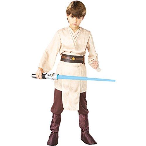 NET TOYS Kinder Jedi Kostüm Star Wars Kinderkostüm M, 5 - 7 Jahre, 111 - 128 cm Jediritter Robe Tunika Starwars Krieger Outfit (Jedi Krieger Kostüm)