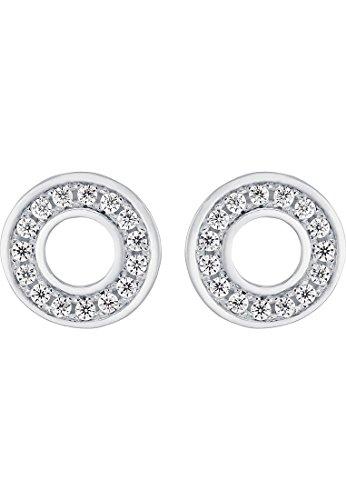 CHRIST Silver Damen-Ohrstecker 925er Silber 24 Zirkonia One Size, silber