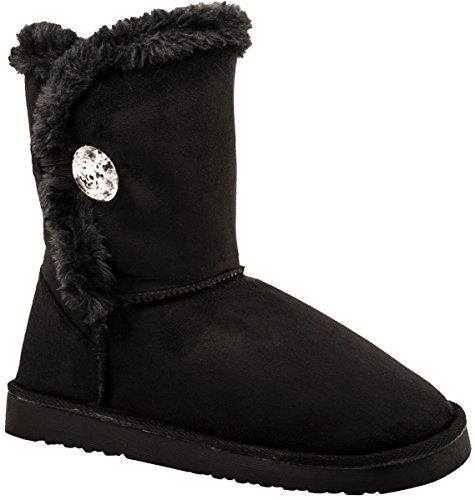 Schwarz Bequeme Stiefel Elara Boots Winter Elara Basic Boots Winter Damen Schlupfstiefel Bequeme fwnHvFqU