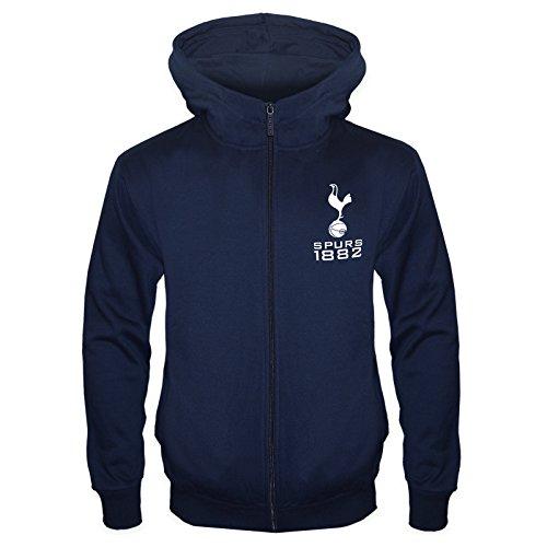 Tottenham Hotspur FC - Sudadera oficial con capucha y cierre de cremallera - Para niño - Forro polar - 12-13 años