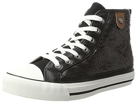 Fritzi aus Preussen Damen Hanna Toe Cap Sneaker Sequin Hohe, Schwarz (Black), 39 EU