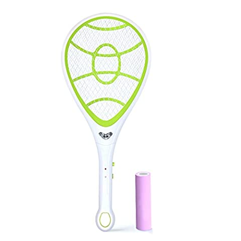 EgoEra® Electric Rechargeable 1600mah Handheld Mosquito Zapper, Wasp Fly Pest Bug Insect Killer Swatter Racket with LED