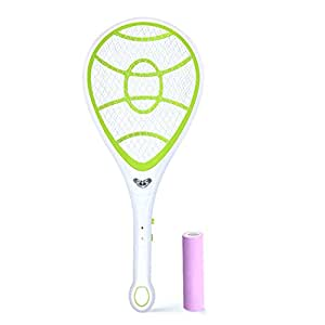raquette moustique egoera rechargeable electrique usb 1600mah raquette moustique fly swatter. Black Bedroom Furniture Sets. Home Design Ideas