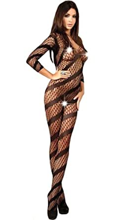 Sexy Petite sexy black bodystocking, to fit UK4-12