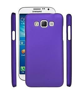 Fuson Rubberised Hard Back Case Cover For Samsung Galaxy Grand 3 G7200 - Purple