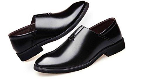 LINYI Herren Kleid Schuhe Business Täglich Freizeitschuhe Koreanische Jugend England Black