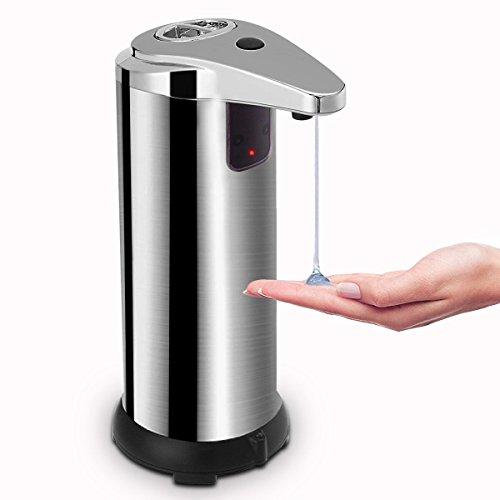 Automatischer Seifenspender , Opamoo Sensor Seifenspender Seifen Dispenser  Aus Edelstahl Badezimmer Spender Berührungsloser Flüssigseifenspender Für  Küche