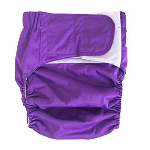 GLJY Teen Adult Stoffwindel Windel, wiederverwendbar waschbar für Inkontinenz Pflege Pflege Unterwäsche, S-XL,Darkpurple,S